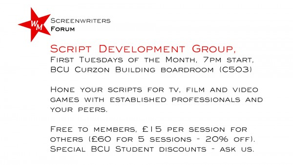 Script Development Group flyer