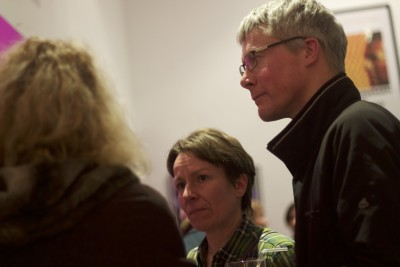 Member Nick Fogg with guests at our launch event