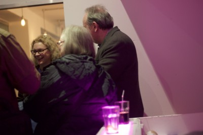 Members Liz John, William Gallagher and guests at our launch event